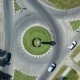 Aerial: Crossroads with Circular Traffic. - VideoHive Item for Sale