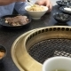Korean Barbecue Grill. People Cook and Eat Dishes Cooked on a Korean Grill in a Restaurant. , . - VideoHive Item for Sale