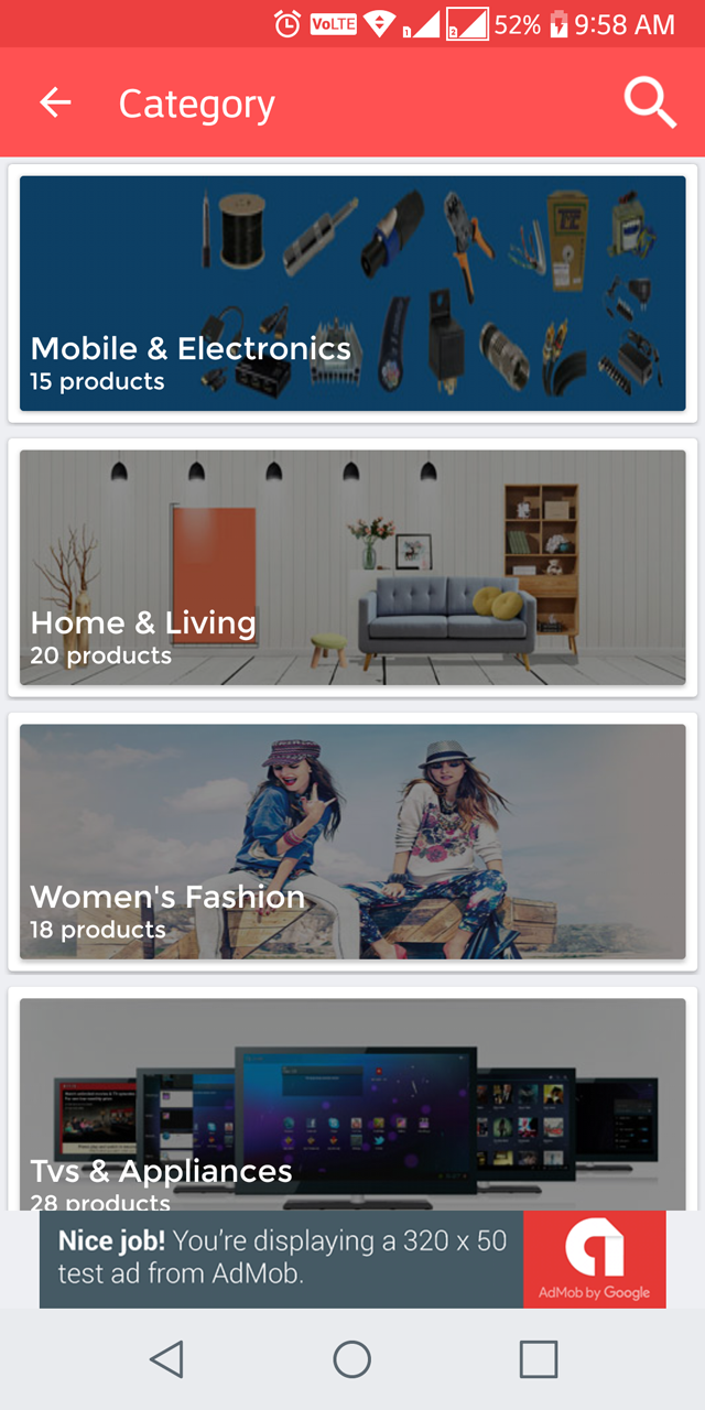 Ecommerce UI Android Template App with Material Design by viaviwebtech