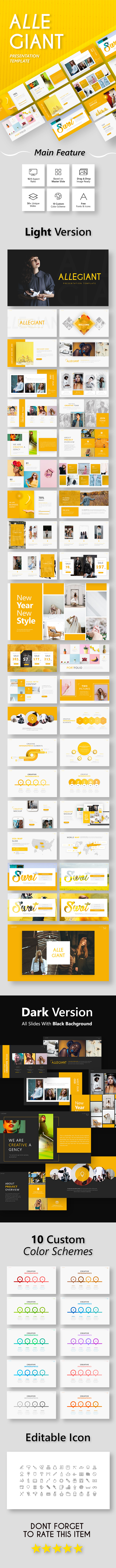 Allegiant - Fashion Presentation Template - Creative PowerPoint Templates