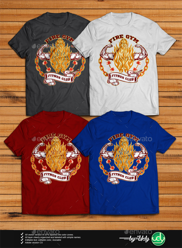 Fire Gym - Sports & Teams T-Shirts