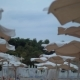 Empty Beach on Resort in Windy Evening, Greece - VideoHive Item for Sale