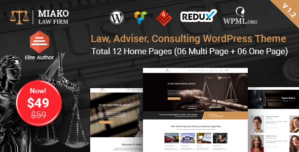 Miako - Lawyer & Law Firm WordPress Theme - Business Corporate