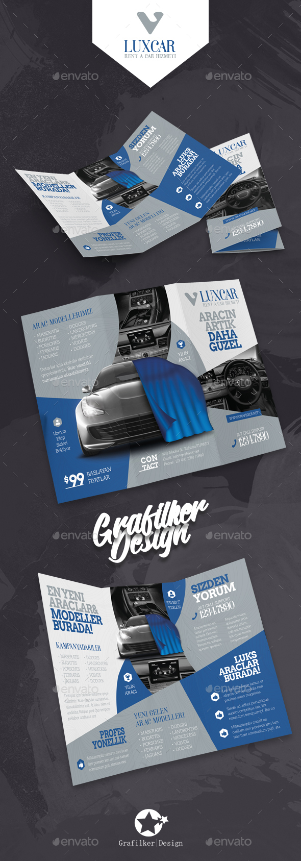Rent A Car Tri-Fold Templates - Corporate Brochures