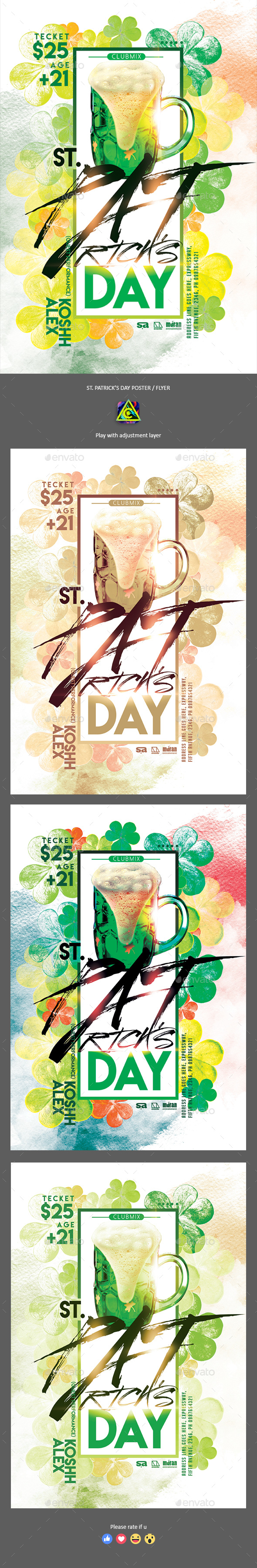 St. Patrick's Day Poster / Flyer - Clubs & Parties Events