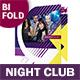 Night Club Bifold / Halffold Brochure