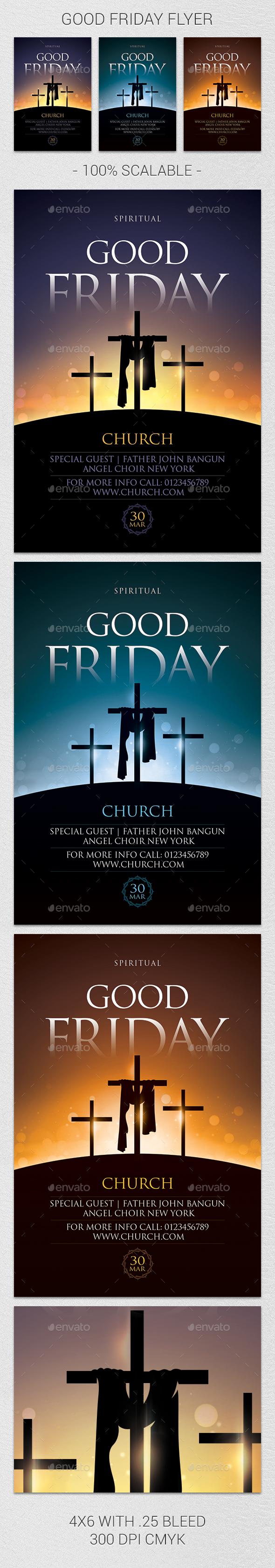 Good Friday Flyer - Church Flyers