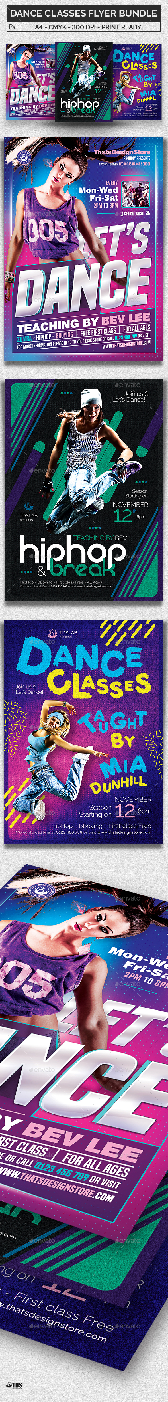 Dance Classes Flyer Bundle - Sports Events