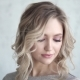 Portrait of an Attractive Blonde. Young Girl with a Light Make-up and Curls - VideoHive Item for Sale