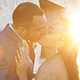 Wedding Couple Kissing at Sunset - VideoHive Item for Sale