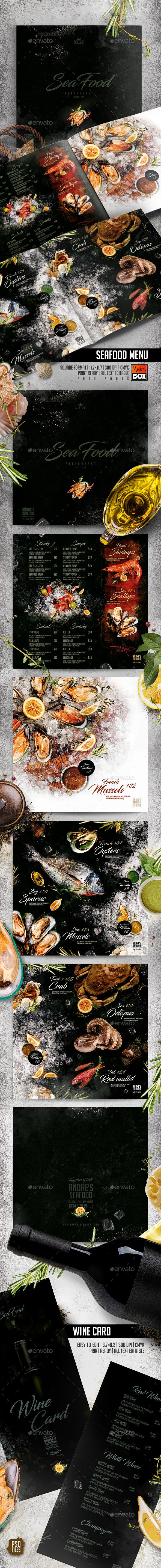 Seafood Menu - Food Menus Print Templates