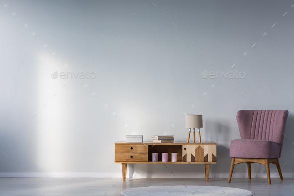 Kid's room with purple armchair - Stock Photo - Images