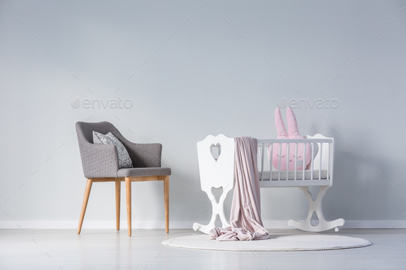 Simple baby's bedroom interior - Stock Photo - Images