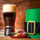 St.Patrick green hat, beer glass and gold - PhotoDune Item for Sale