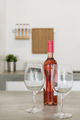 Rosé wine bottle with glasses - PhotoDune Item for Sale