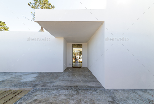 Modern house entrance - Stock Photo - Images