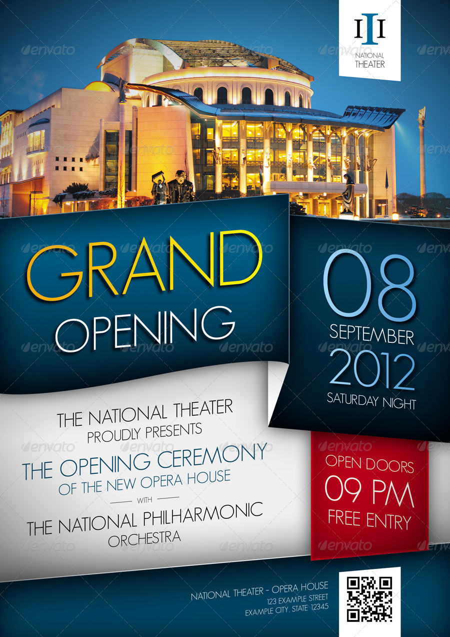 Grand Opening Event Flyer by ApproxArt | GraphicRiver