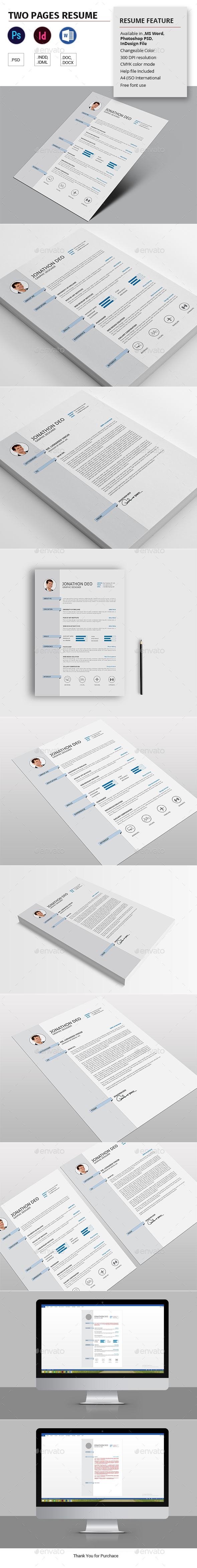 Two Pages Resume - Resumes Stationery