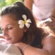 Caucasian Woman Having Outdoor Spa Massage - VideoHive Item for Sale