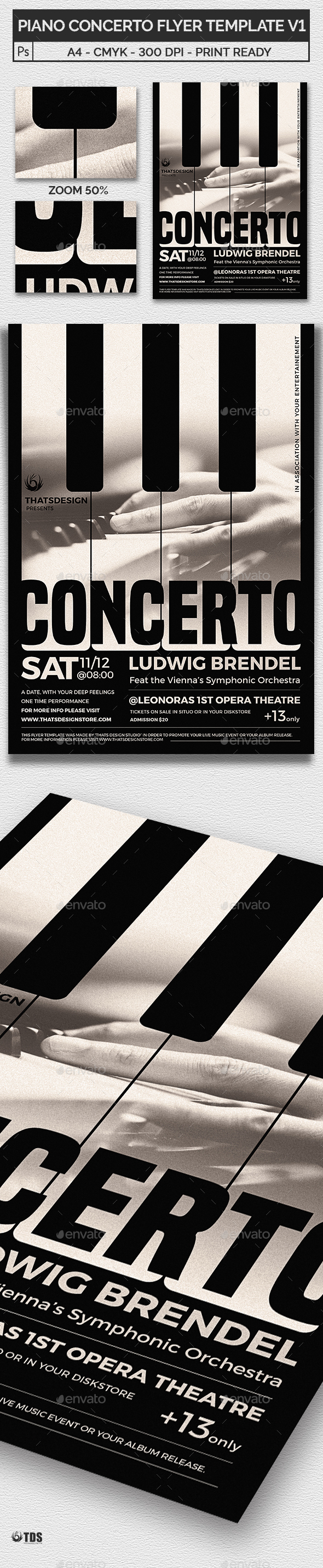 Piano Concerto Flyer Template V1 - Concerts Events