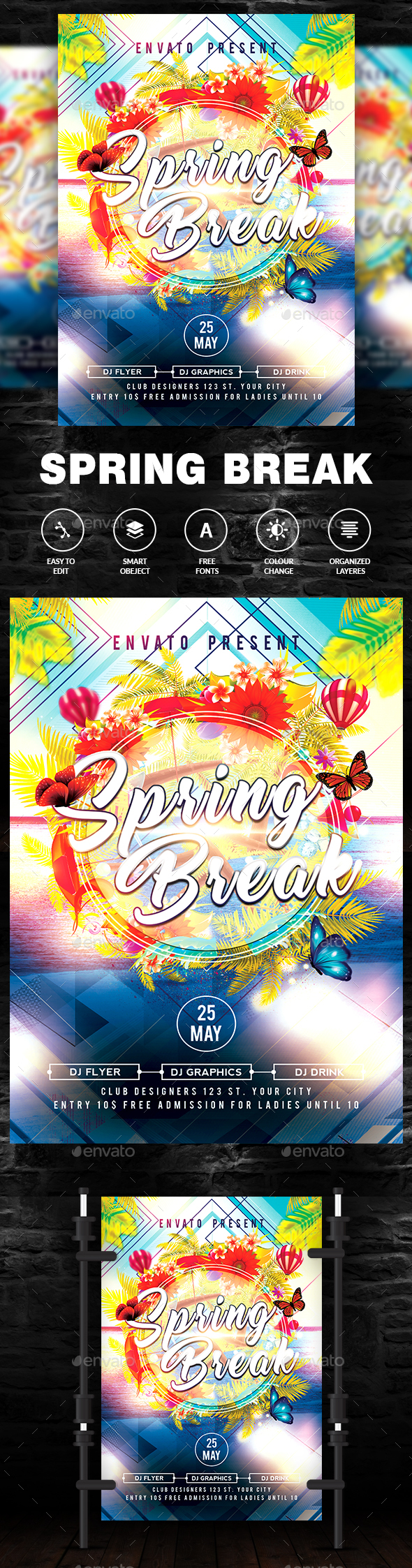 Summer Break Flyer / Poster - Clubs & Parties Events