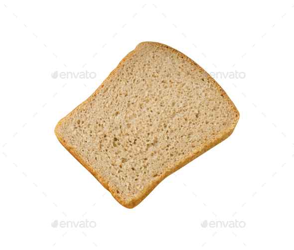 Bread Slice isolated on white - Stock Photo - Images