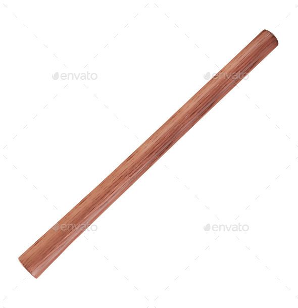 wooden stick isolated on white background - Stock Photo - Images