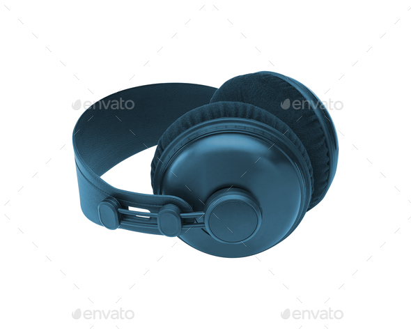 headphones isolated on white - Stock Photo - Images