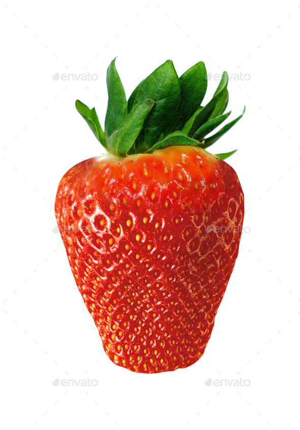 Strawberry isolated on white - Stock Photo - Images