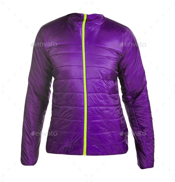 Purple women winter jacket - Stock Photo - Images