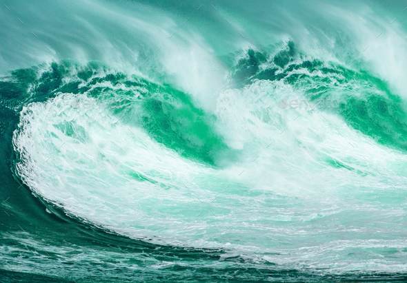 Green Ocean Wave - Stock Photo - Images