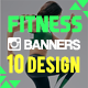 Fitness & Sport Instagram Banner - GraphicRiver Item for Sale