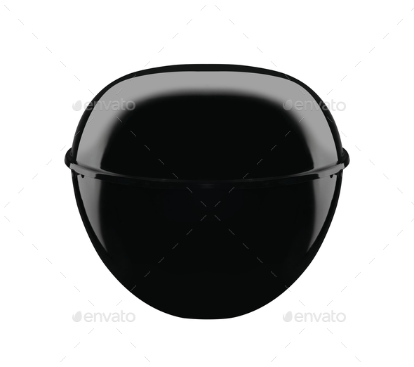 A picture of a new black barbecue isolated on white - Stock Photo - Images