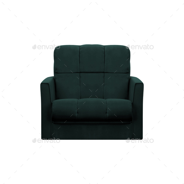 modern leather chair isolated on white background - Stock Photo - Images