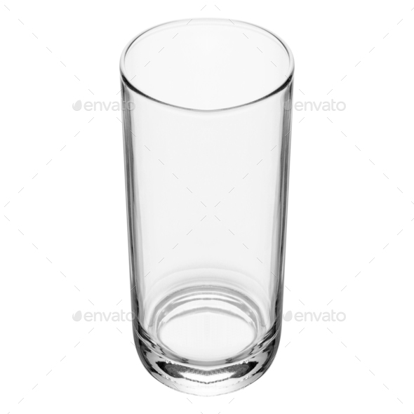 Empty glass isolated on a white background - Stock Photo - Images