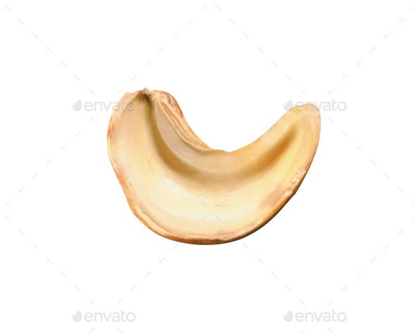 Cashews on white background - Stock Photo - Images