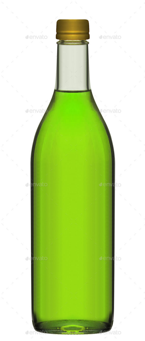 Small green beer bottle - Stock Photo - Images