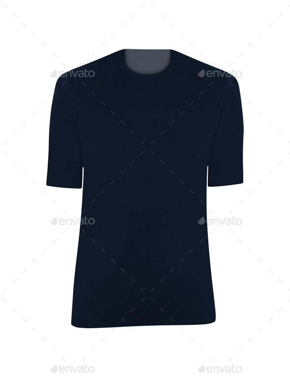 Shirts isolated on white - Stock Photo - Images