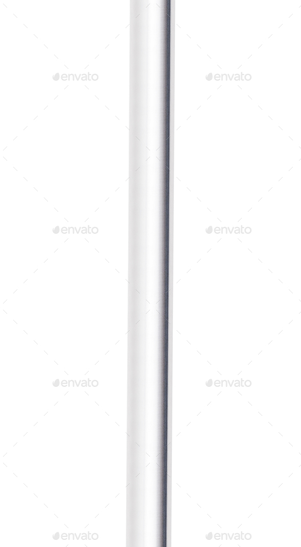 Metal pipe isolated on white background - Stock Photo - Images