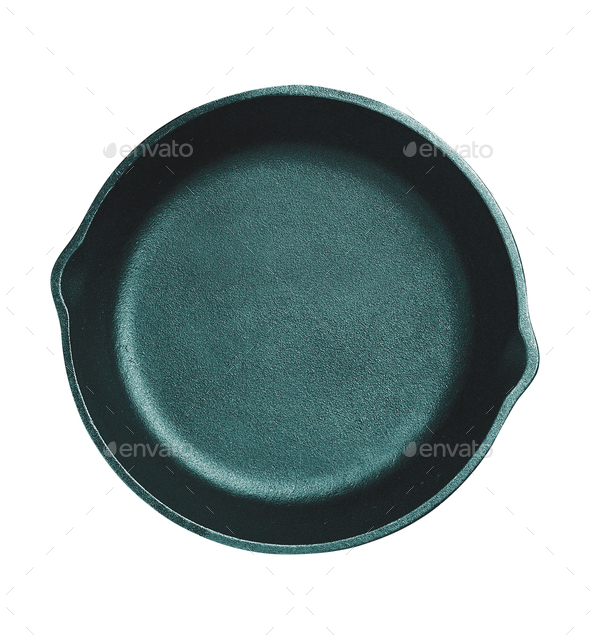 Frying pan isolated on white background - Stock Photo - Images