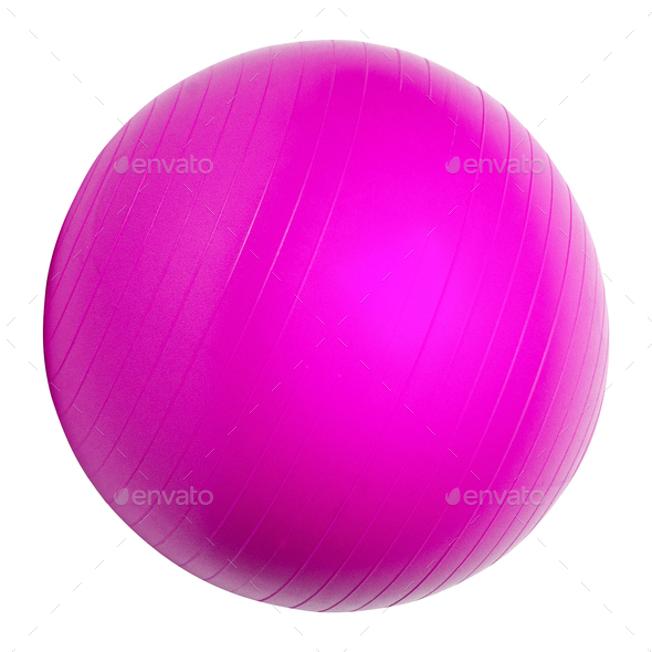 Pink Fitness ball - Stock Photo - Images