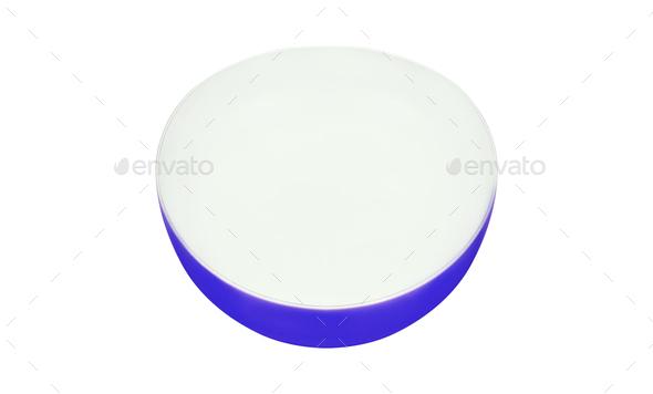 Empty pialat isolated on white background - Stock Photo - Images