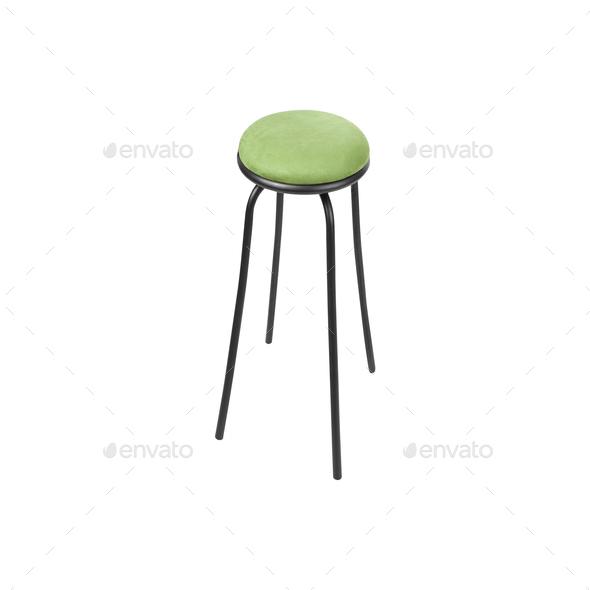 Bar stool isolated on white background - Stock Photo - Images