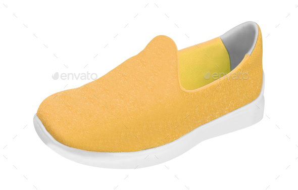 Colorful orange running and fashion sneaker shoe - Stock Photo - Images