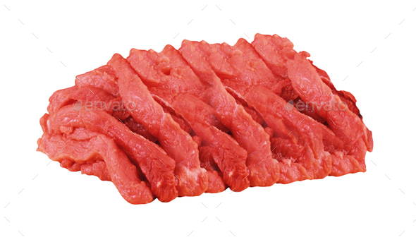 Meat isolated on white - Stock Photo - Images