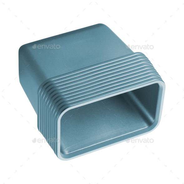 plastic container isolated on white background - Stock Photo - Images