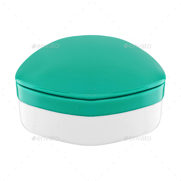 Cosmetic bottle for cream - Stock Photo - Images