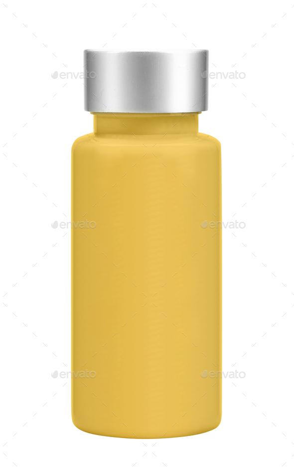 Orange bottle isolated on white background - Stock Photo - Images