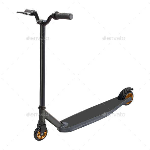 Kick Scooter. Isolated - Stock Photo - Images