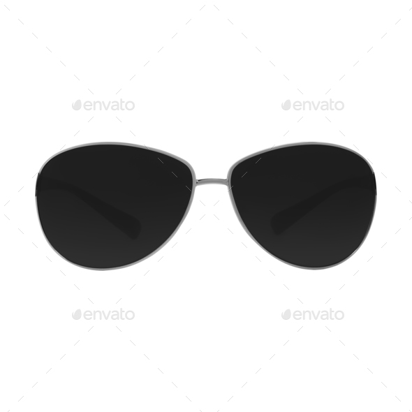 sunglasses isolated on white background - Stock Photo - Images